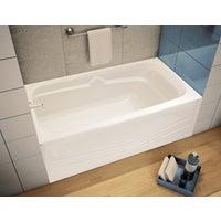 White Lh Soaking Bathtub