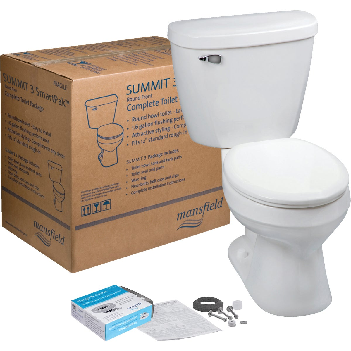 WHITE SUMMIT TOILET - 4381CTK by Mansfield Plumbing