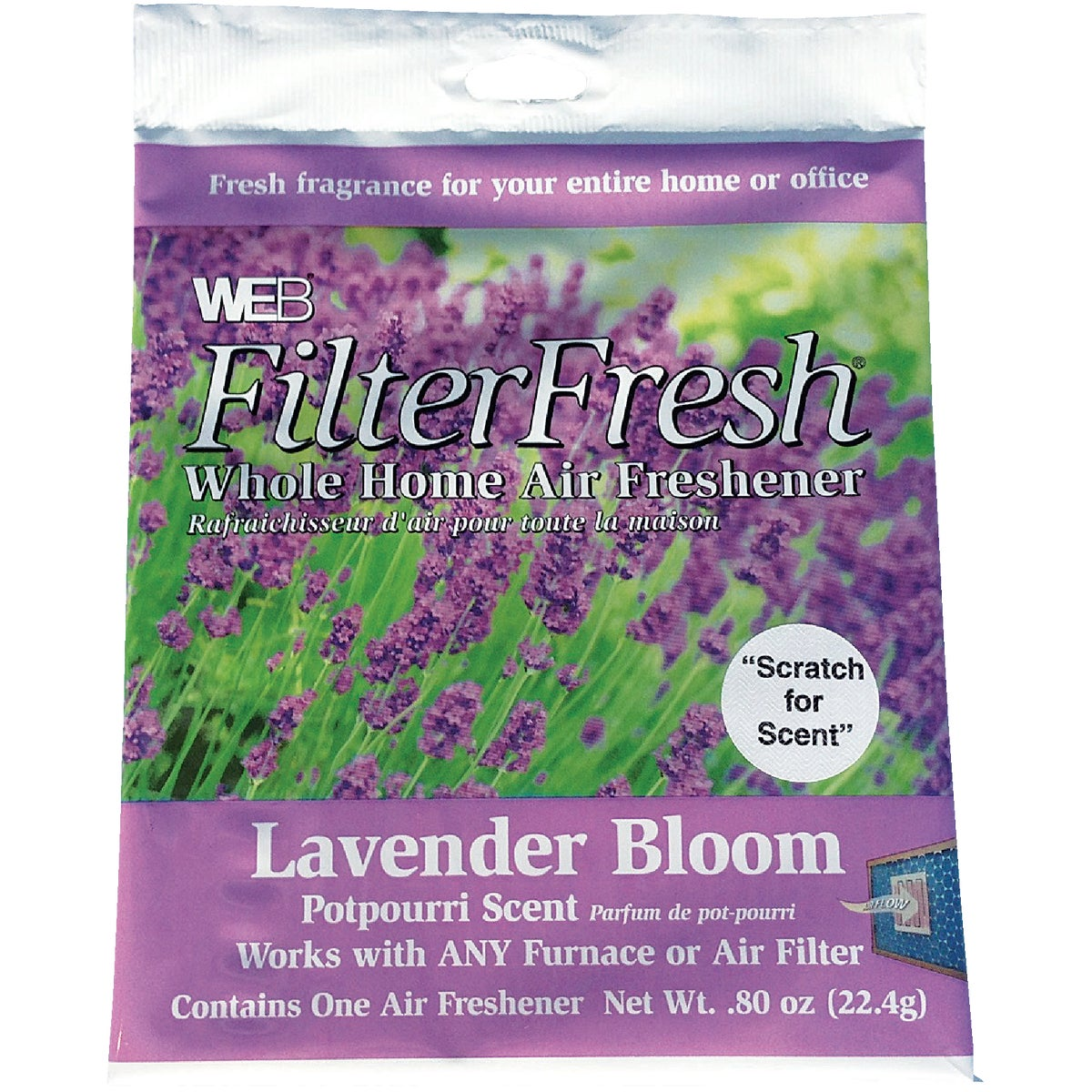 LAVENDER AIR FILTER PAD - WLAVENDER by Web Products Inc