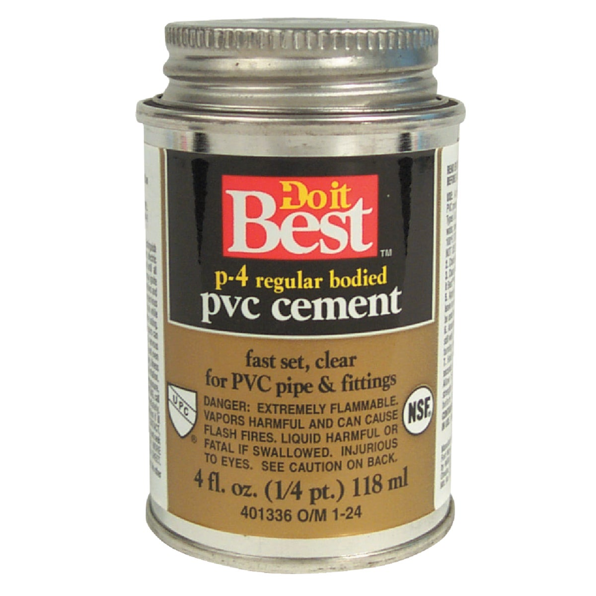 1/4 PINT PVC CEMENT - 018099 by Wm H Harvey Co