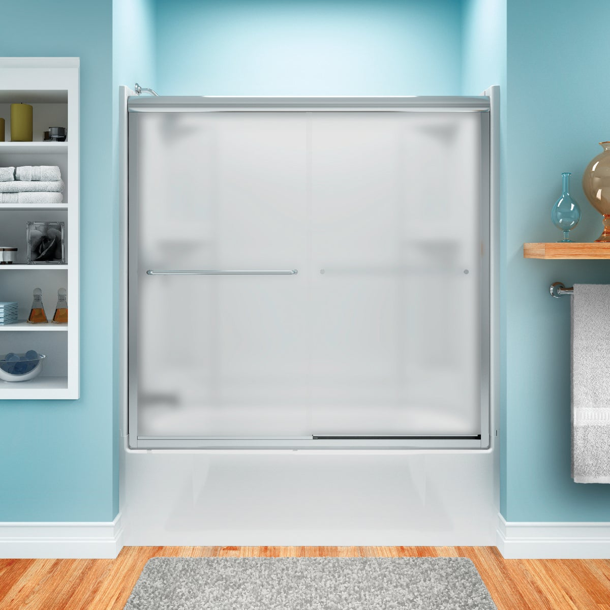 54-5/8-59-5/8 SLV TUB DR - 5425-59S-G03 by Sterling Doors