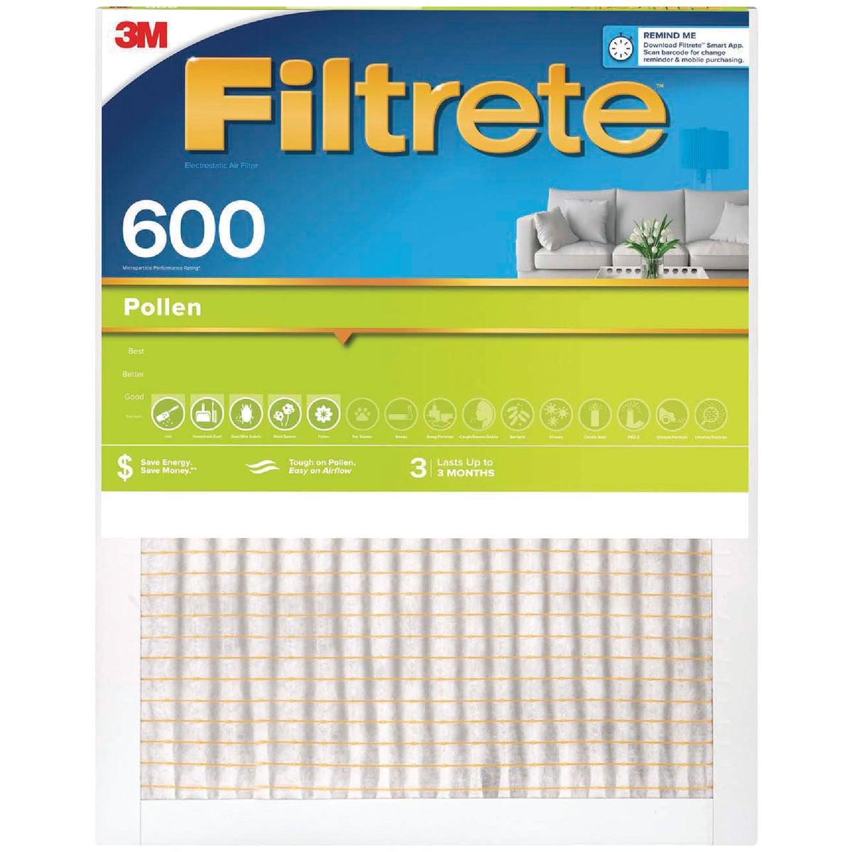 3M Filtrete 20 In. x 20 In. x 1 In. Clean Living 600 MPR Furnace Filter