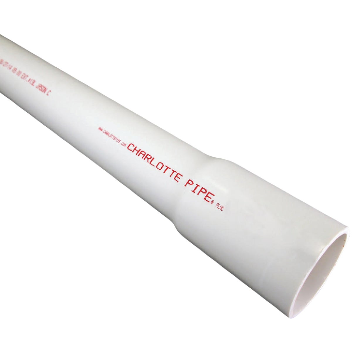 "1""X20' SCH40 PVC PIPE - PVC 04010B 0800HA by Charlotte Pipe"