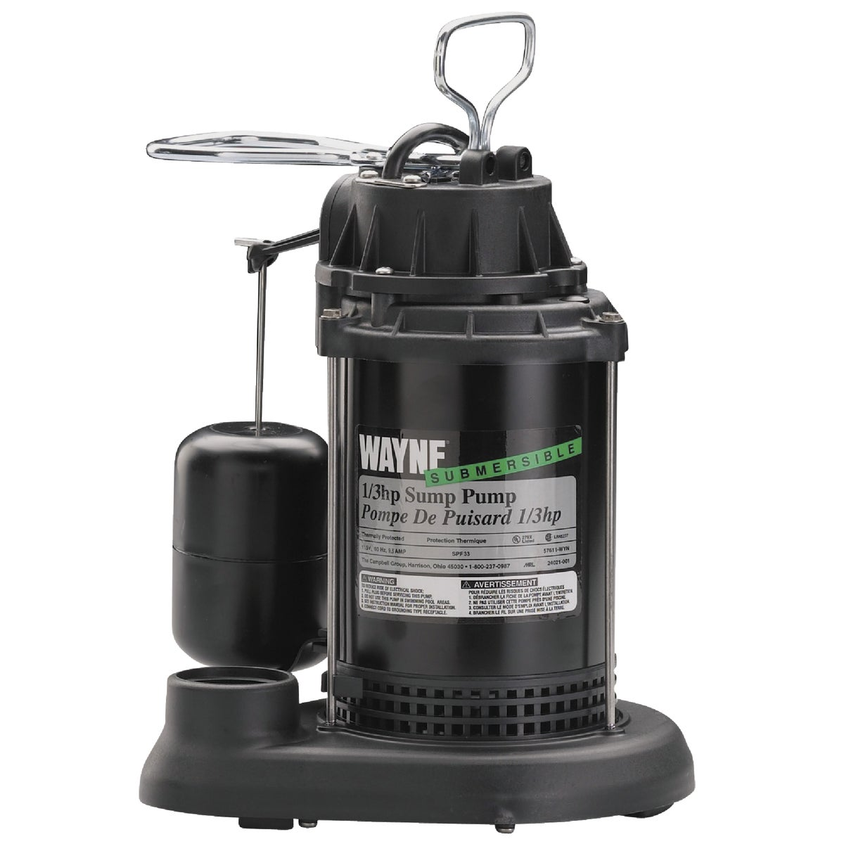 1/3HP PLASTIC SUMP PUMP - SPF33-57610 by Wayne Water Systems