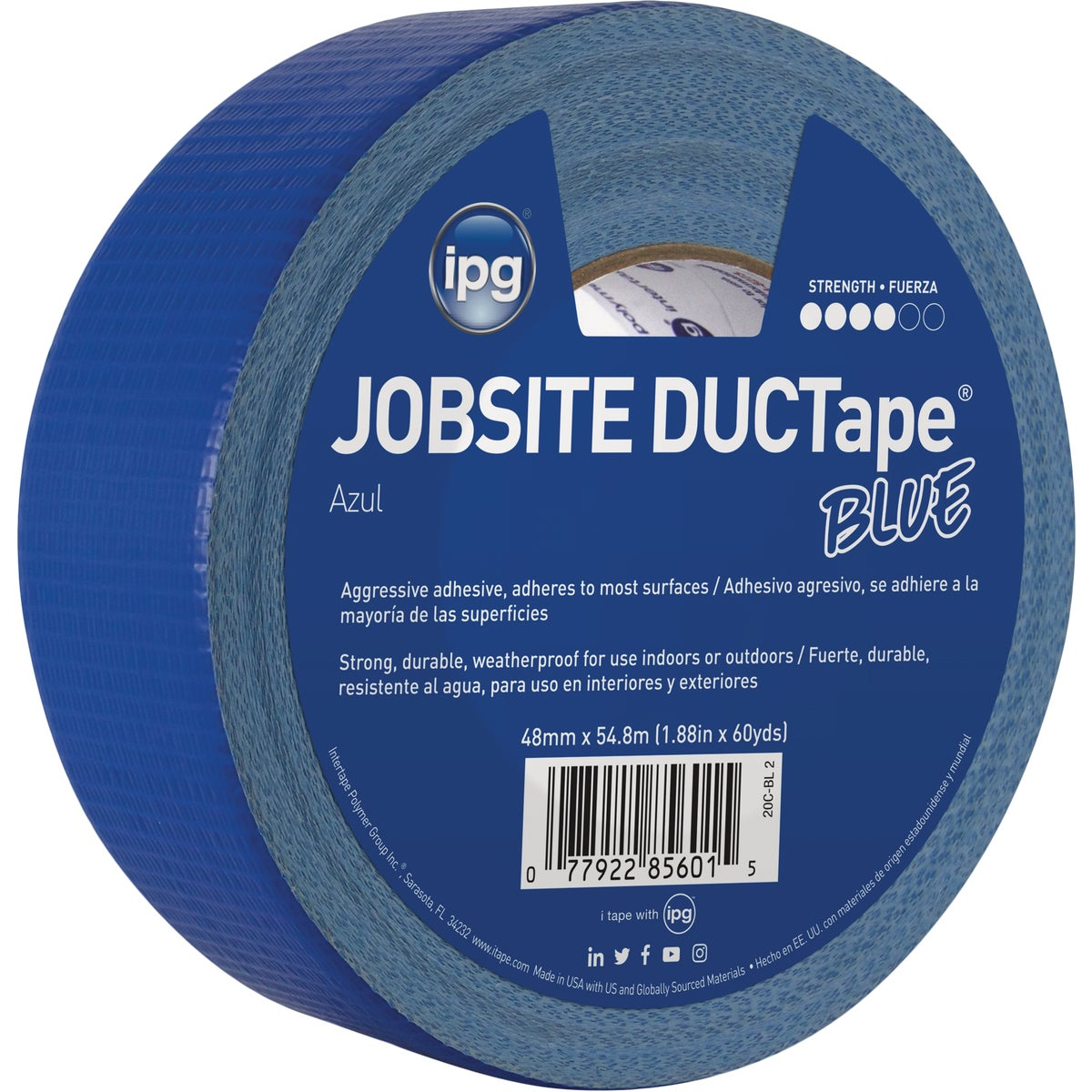 "1.87""X60YD BLU DUCT TAPE - 20C-BL2 by Intertape Polymer"