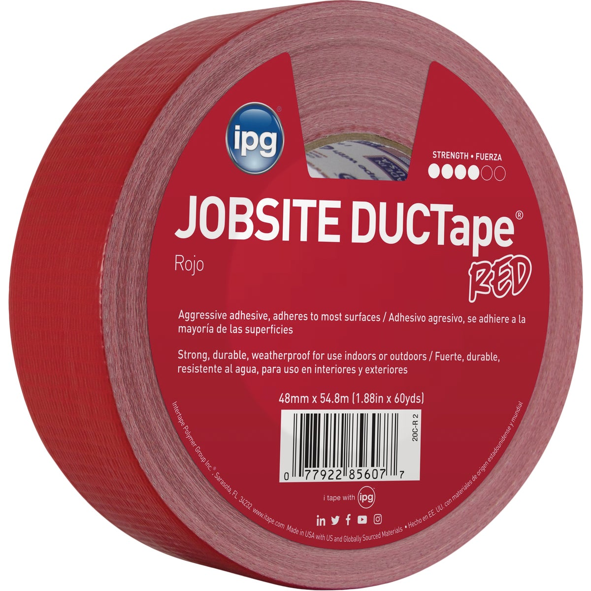 "1.87""X60YD RED DUCT TAPE - 20C-R2 by Intertape Polymer"