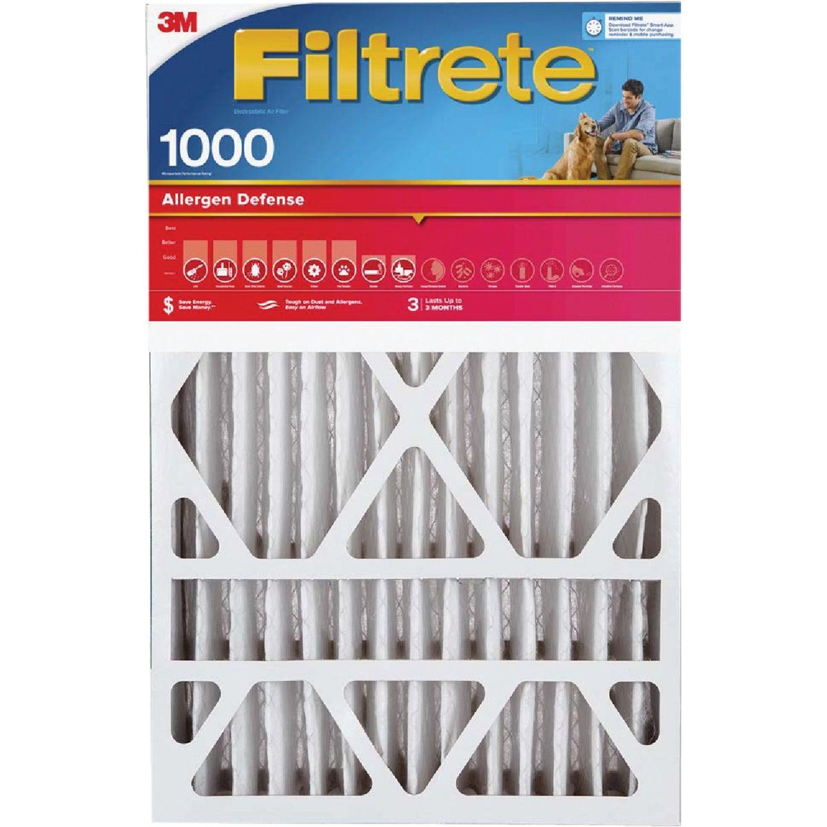 3M Filtrete 16 In. x 20 In. x 1 In. Allergen Defense 1000/1085 MPR Furnace Filter (2-Pack)