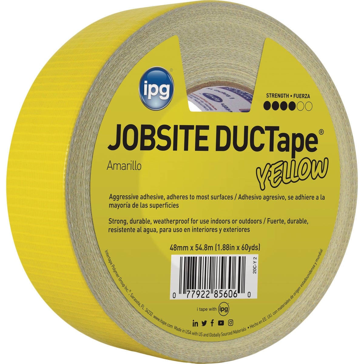 """1.87""""X60YD YEL DUCT TAPE"""