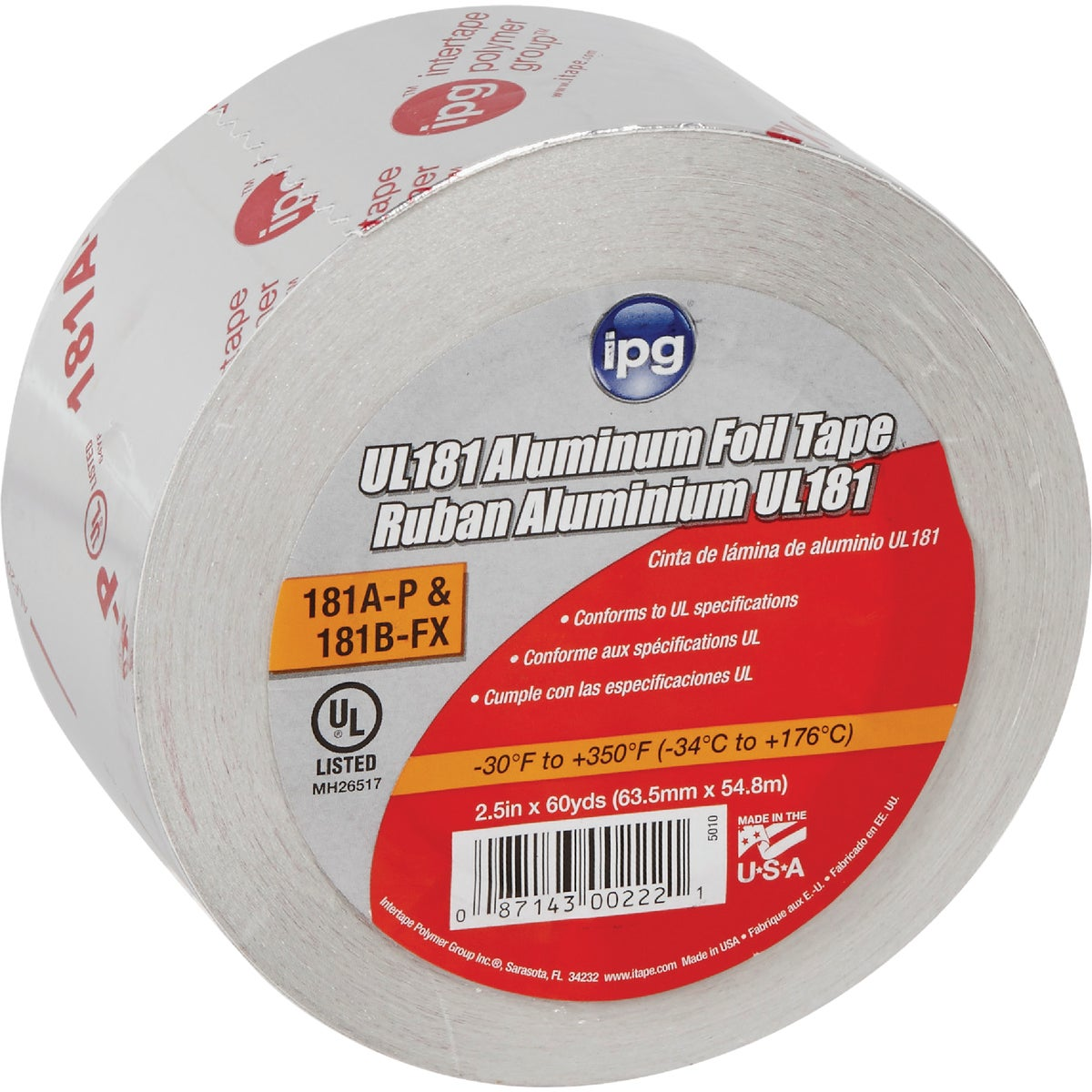 "2.5""X60YD ALUM FOIL TAPE - 5010 by Intertape Polymer"