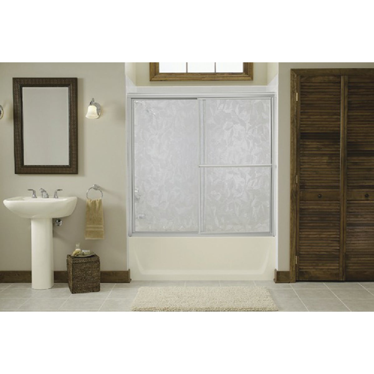 51-1/4-56-1/4 SLV TUB DR - 5930-56S by Sterling Doors