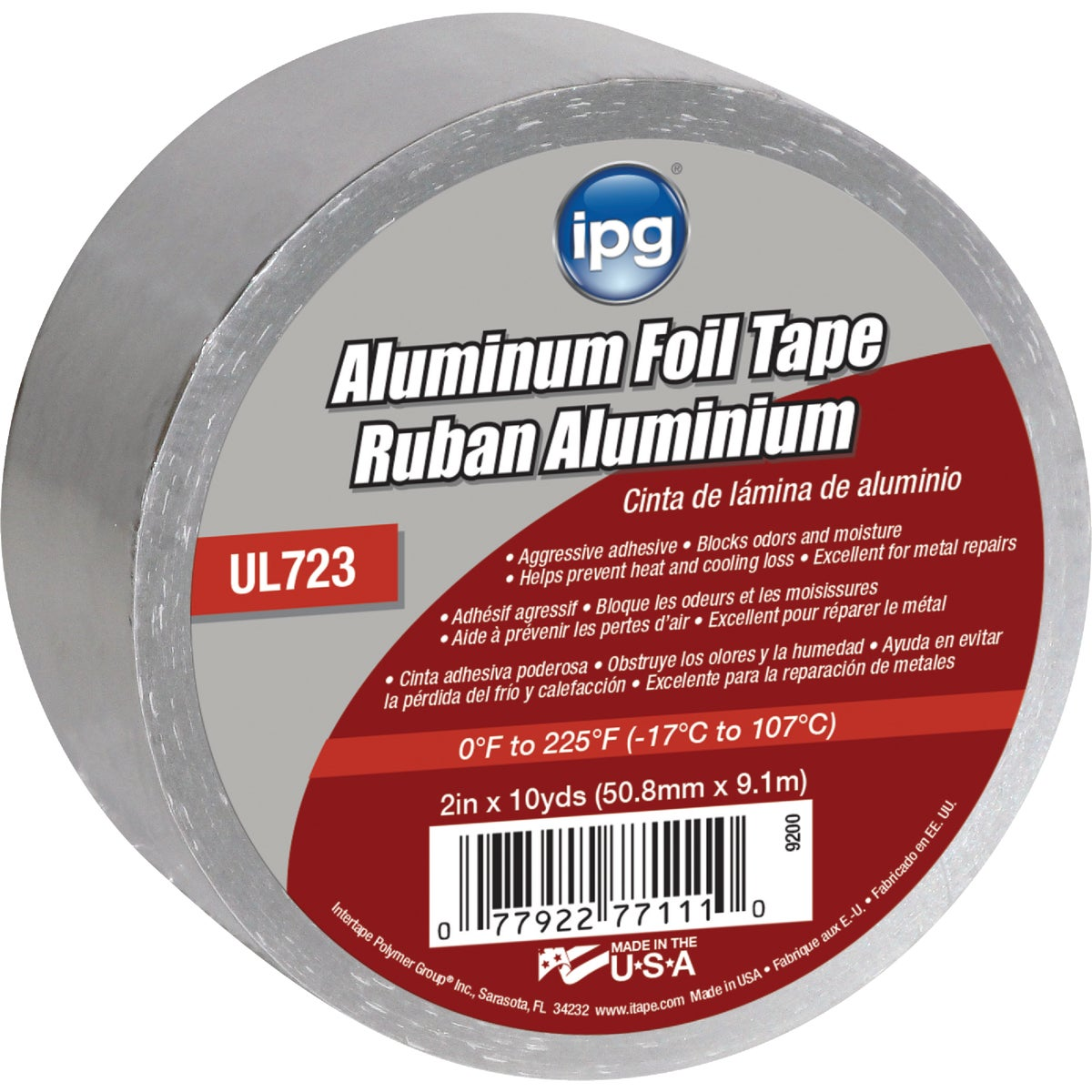 "2""X10YD ALUM FOIL TAPE - 9200 by Intertape Polymer"