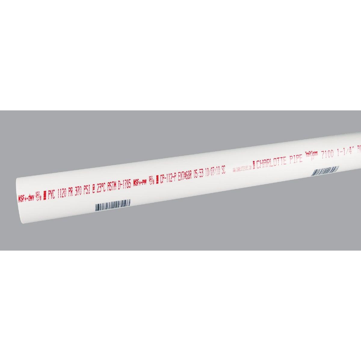 """1-1/4""""X10 SCH40 PVC PIPE - PVC 07100 0600HC by Charlotte Pipe"""