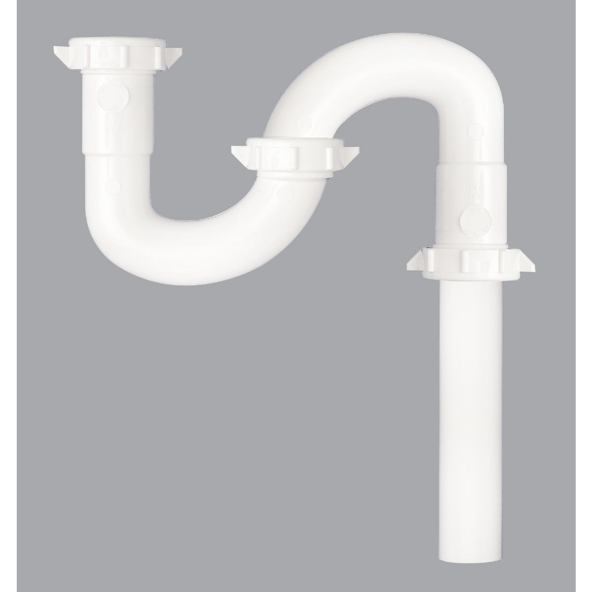 Plumb Pak/Keeney Mfg. 1-1/2 WHT PLASTIC S-TRAP 403245