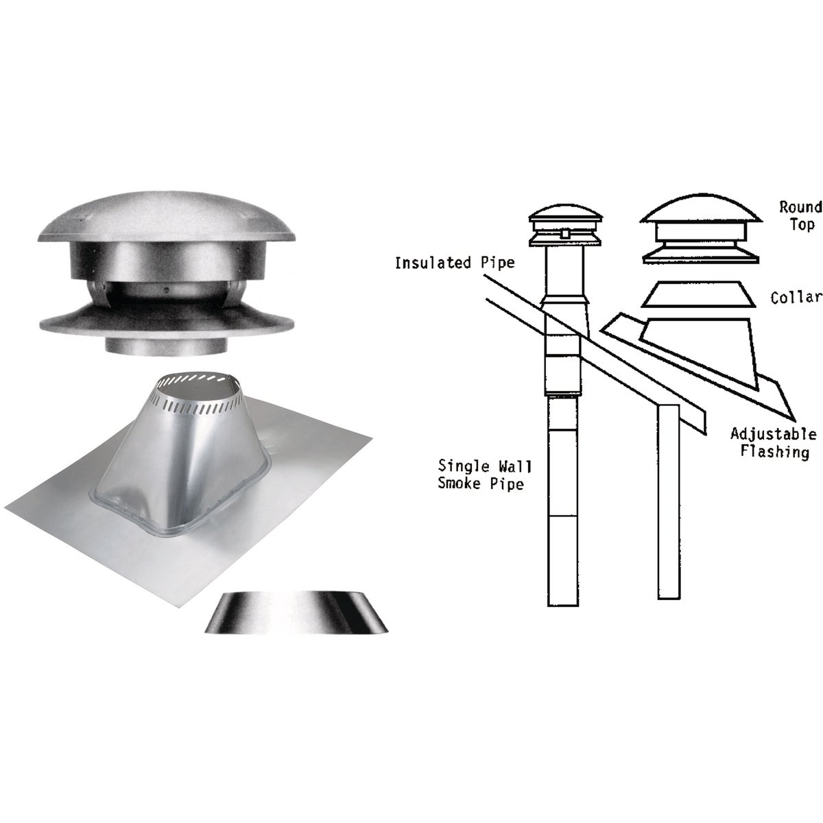 "6"" KIT 3PC CHIMNEY - 6T-RTK by Selkirk Corporation"