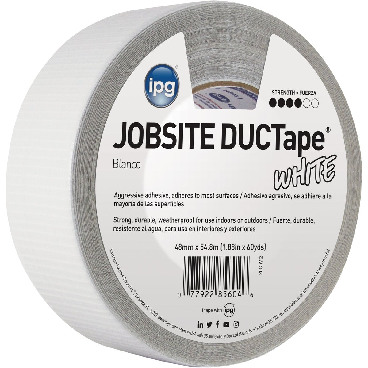 "1.87""X60YD WHT DUCT TAPE - 20C-W2 by Intertape Polymer"