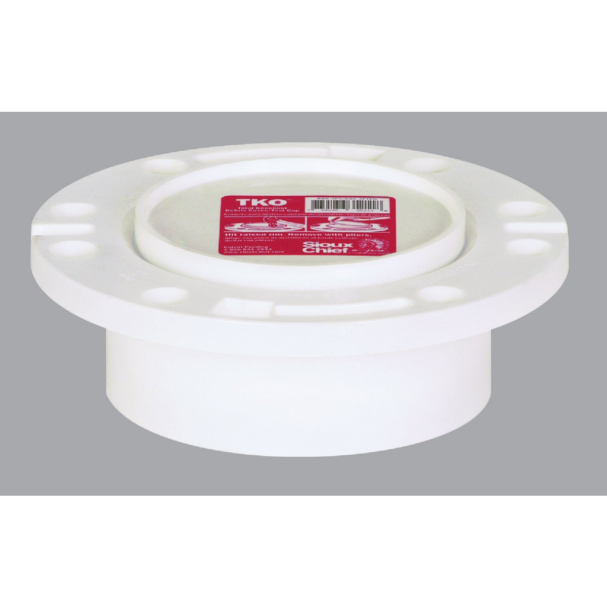 4X3 K/O PVC CLOST FLANGE - 883-PTPK by Sioux Chief Mfg