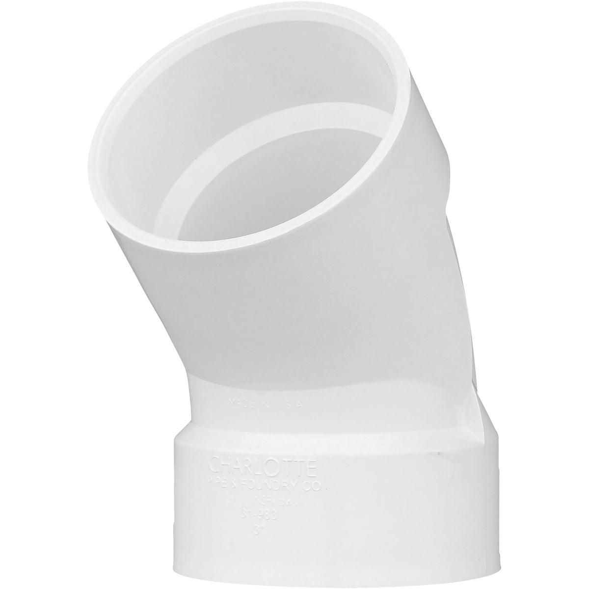 "3"" 45D PVC-DWV ELBOW - 70630 by Genova Inc  Pvc Dwv"