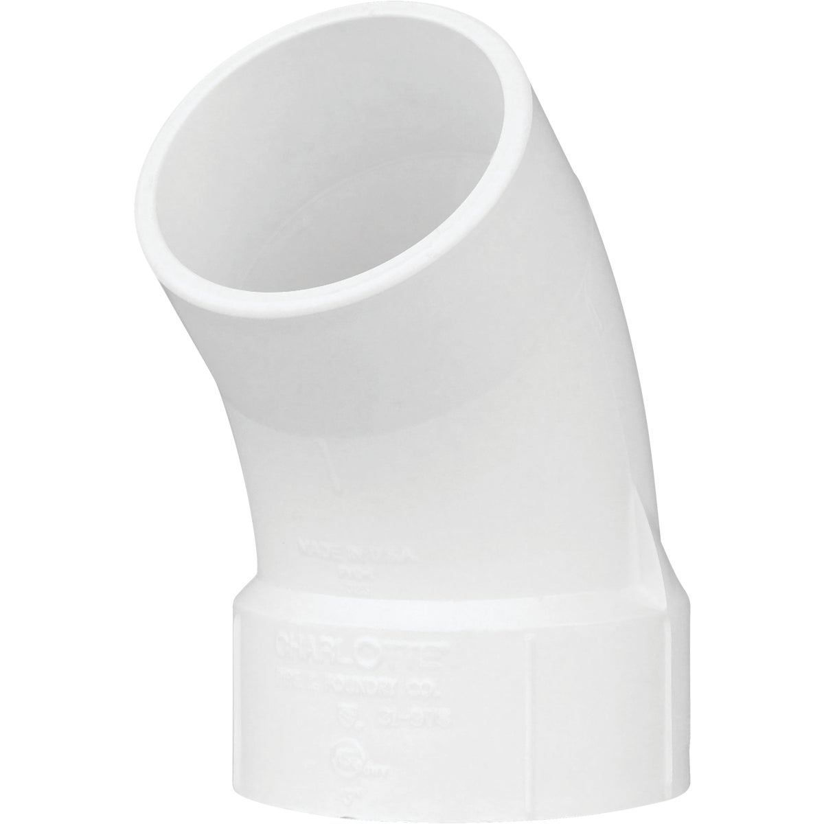 "3"" 45D DWV STREET ELBOW - 72730 by Genova Inc  Pvc Dwv"