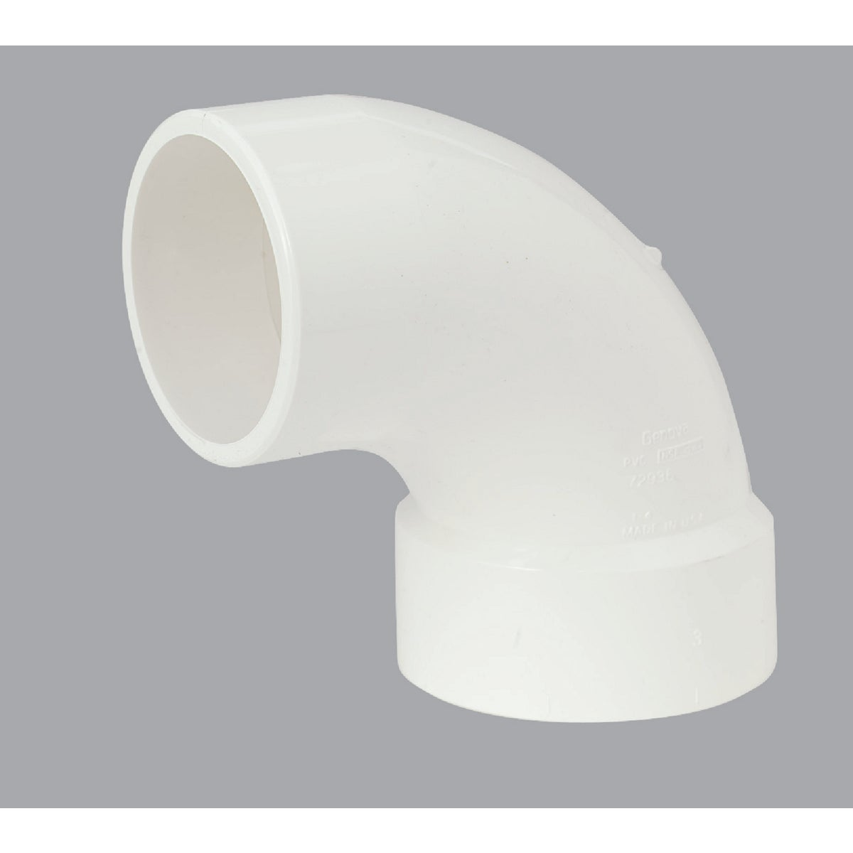 "3""90D DWV SANI STR ELBOW - 72936 by Genova Inc  Pvc Dwv"