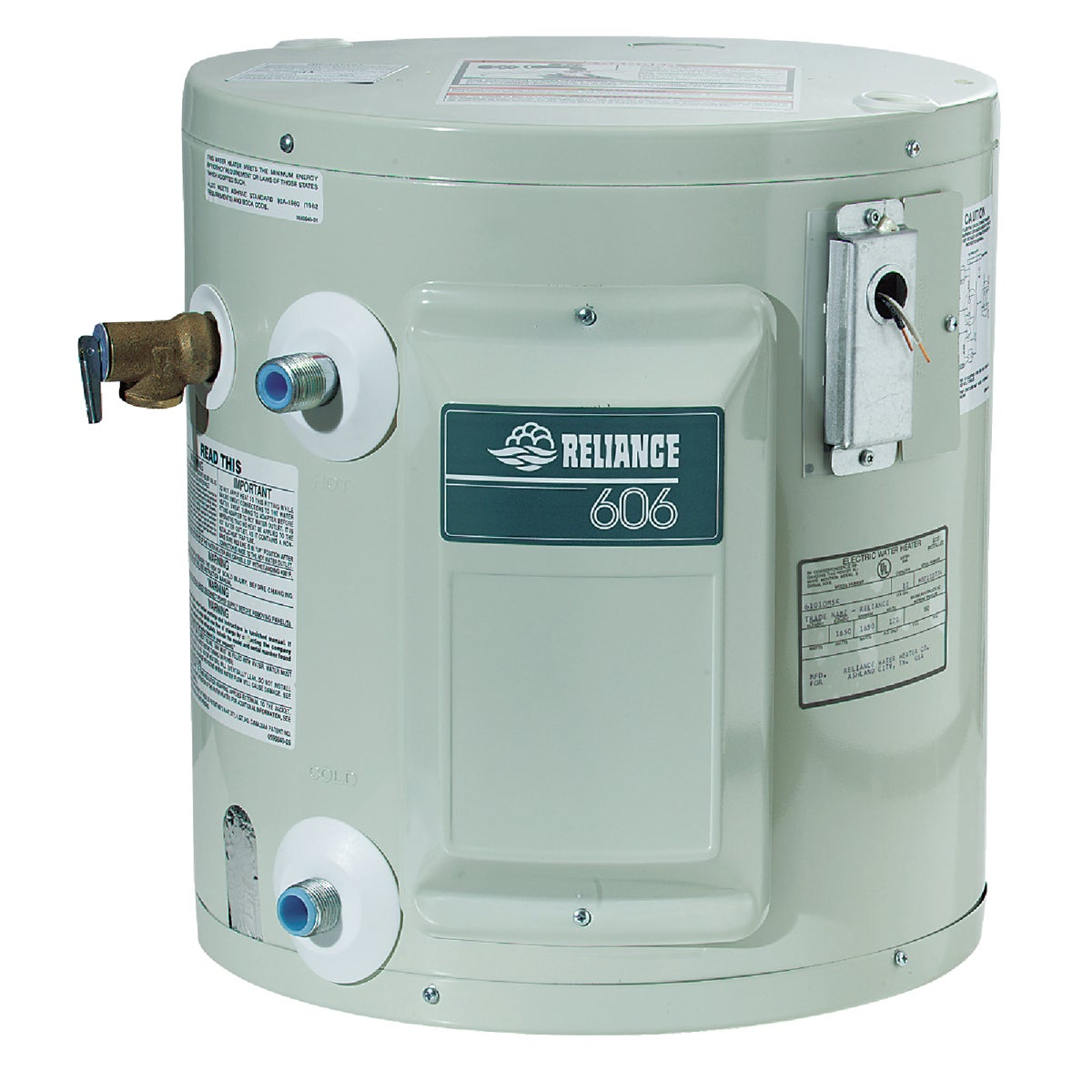 10GAL ELEC WATER HEATER - 6-10-SOMS K by Reliance Added Sales