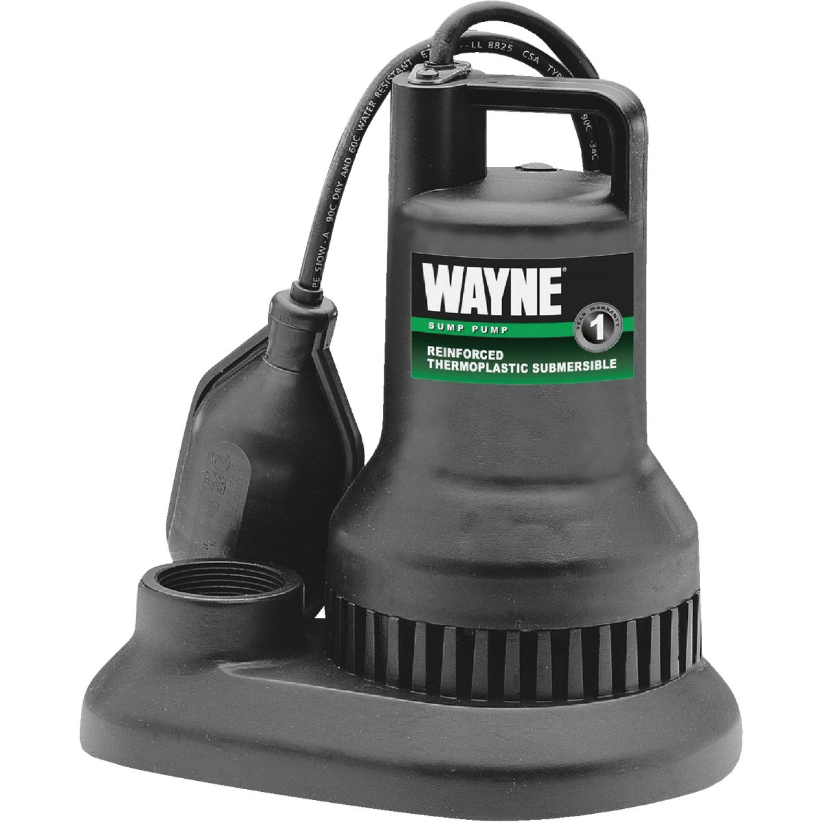1/3HP PLASTIC SUMP PUMP - RSP130 by Wayne Water Systems