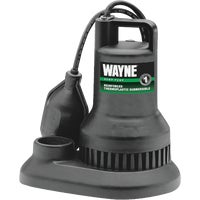 Wayne Home Equipment 1/3HP PLASTIC SUMP PUMP RSP130