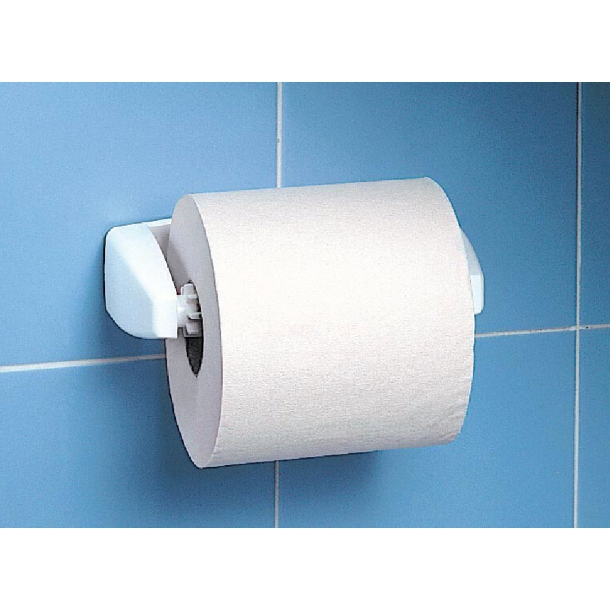 WHITE TISSUE HOLDER - 22980302.12 by Homz Products  Bath