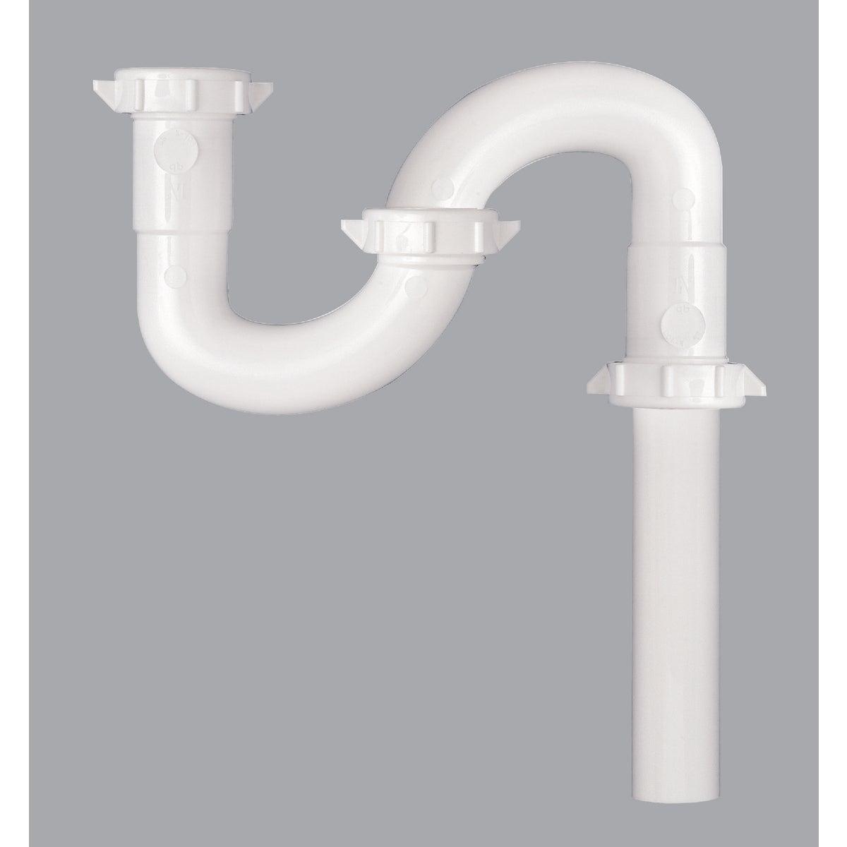 1-1/2 WHT PLASTIC S-TRAP