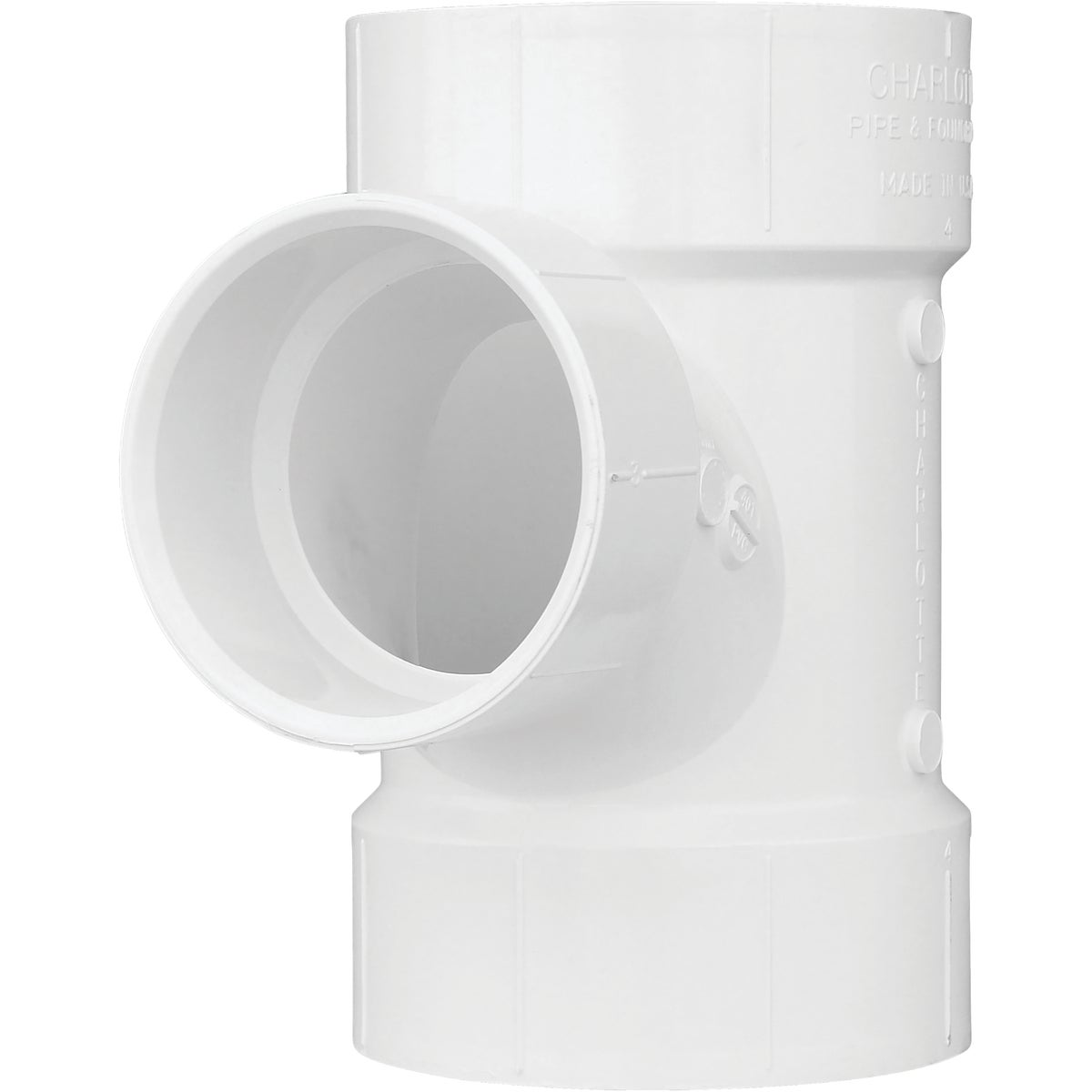 "4""X3"" DWV RED SANI TEE - 71143 by Genova Inc  Pvc Dwv"