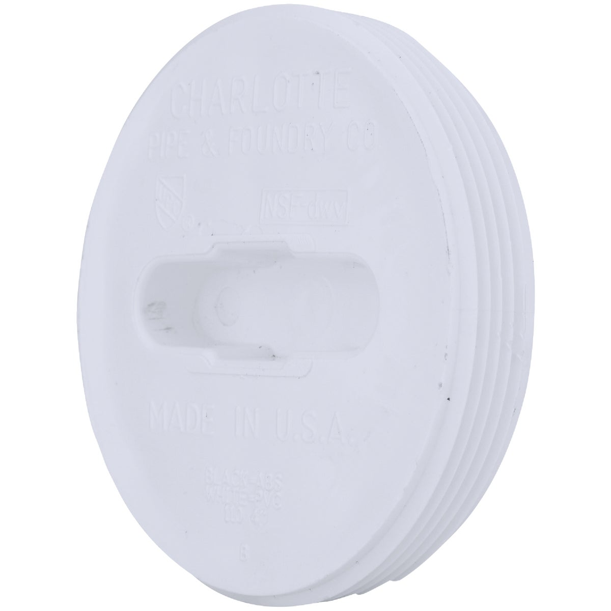 "4"" TOE-SAVER FLOOR PLUG - 71854 by Genova Inc  Pvc Dwv"