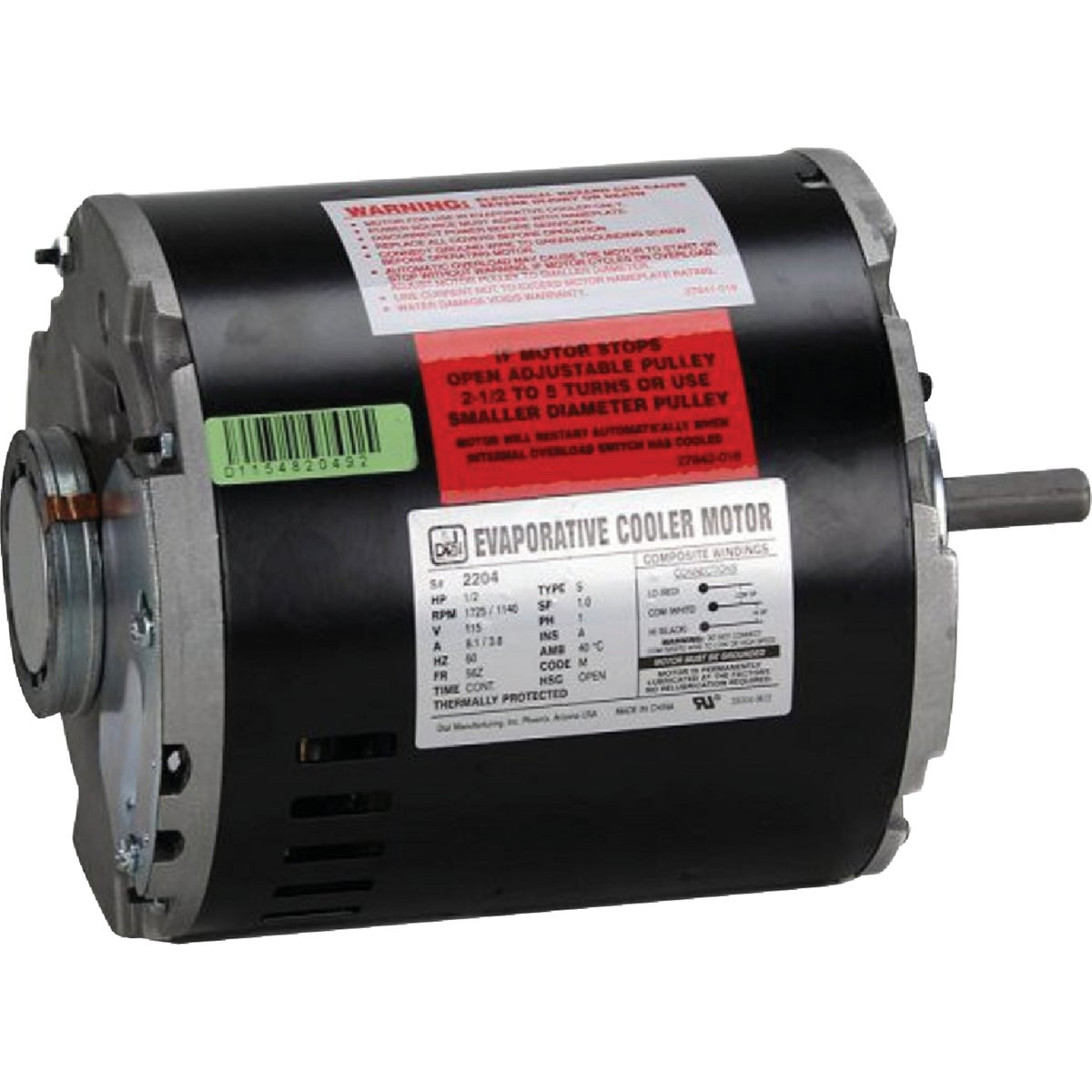 1/2HP 2 SPEED MOTOR