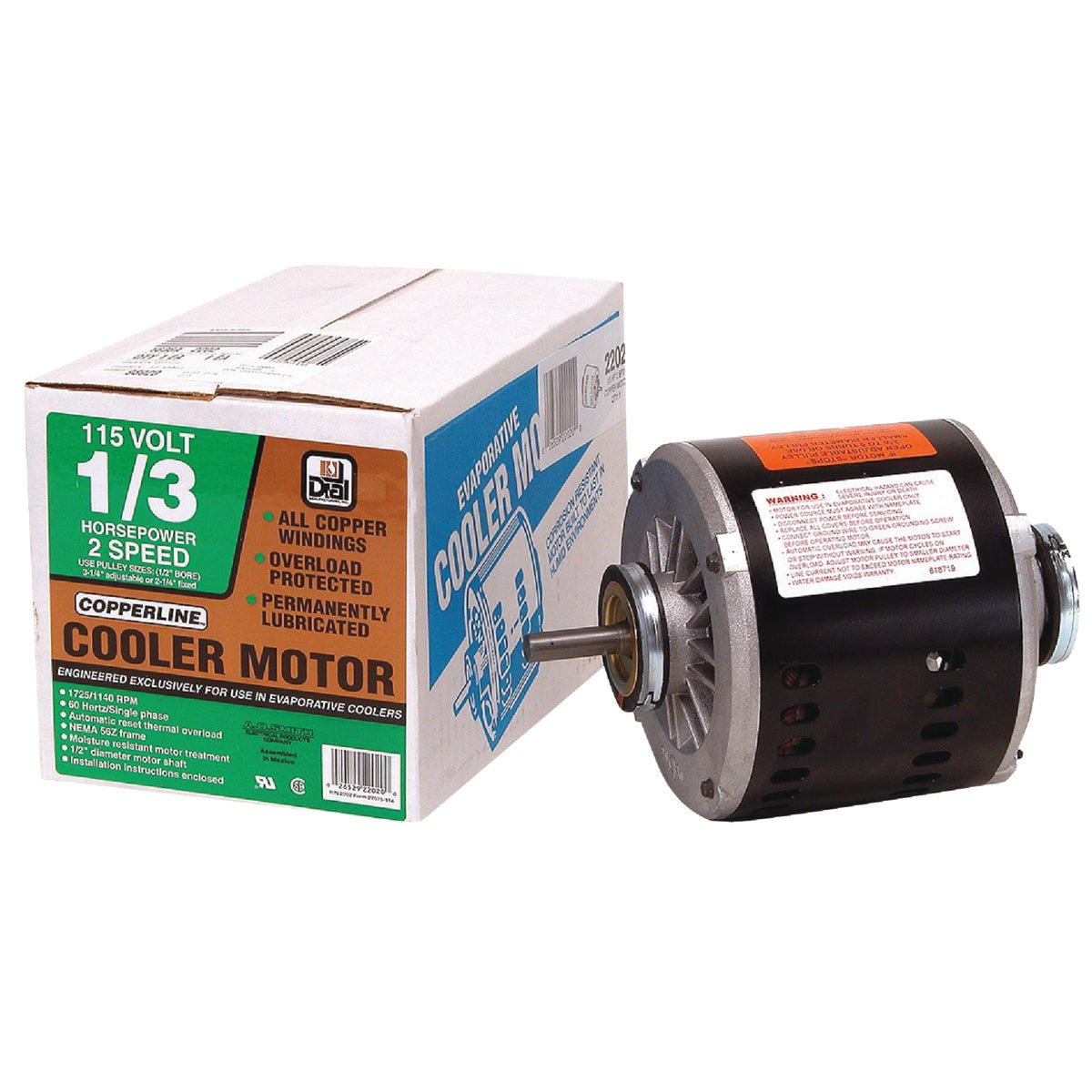 1/3HP 2 SPEED MOTOR - 2202 by Dial Manufacturing