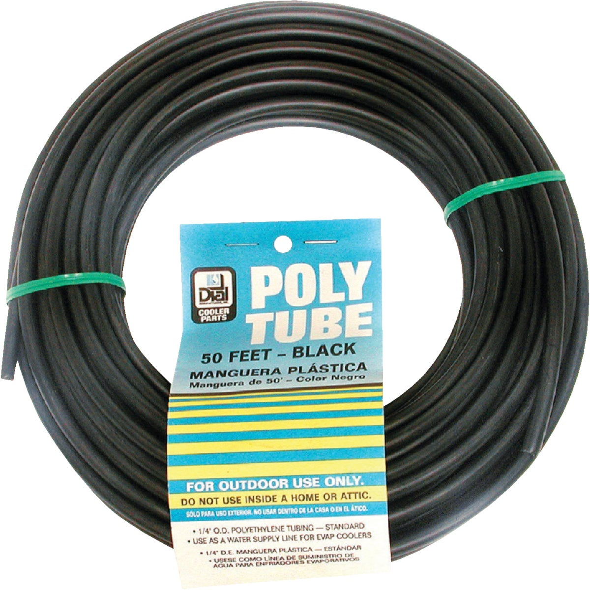 "1/4""X50' BLK POLY TUBE"