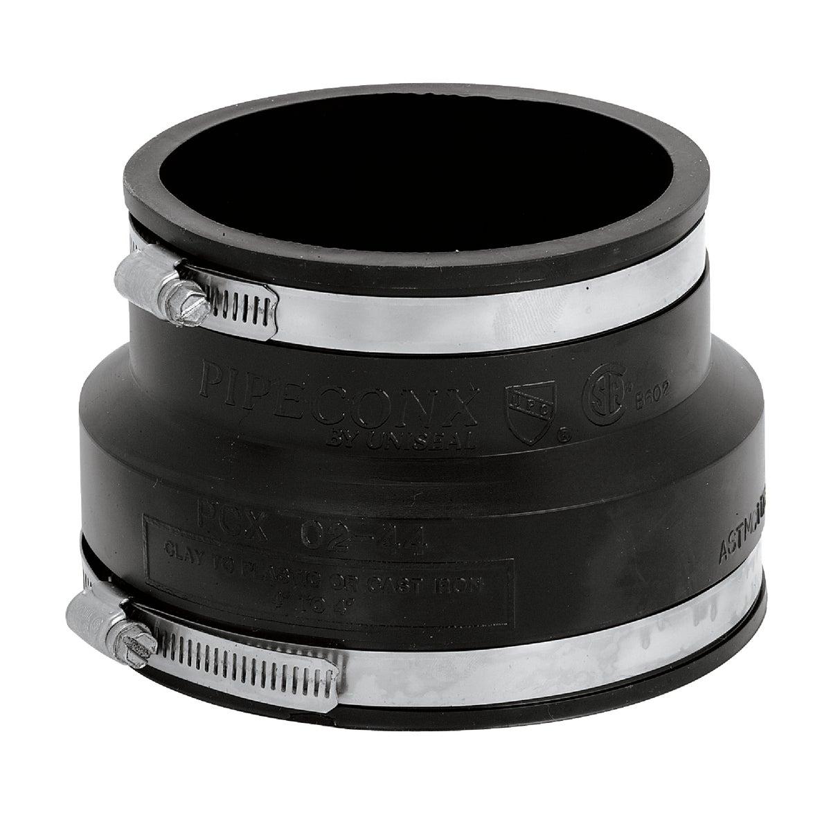 4CLAYX4PVC FLEX COUPLING - P1002-44 by Fernco Inc