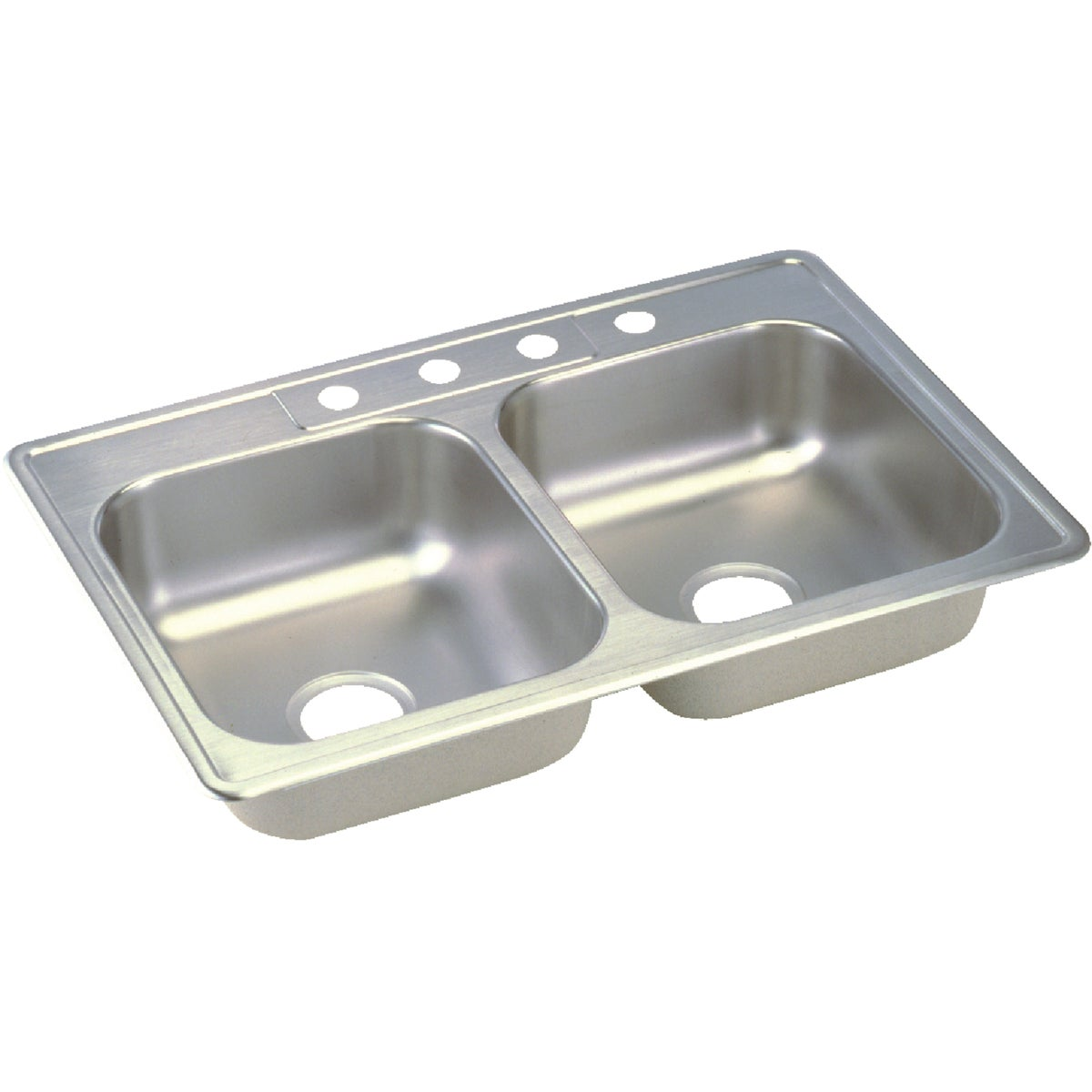 """6"""" SS DOUBLE-BOWL SINK"""