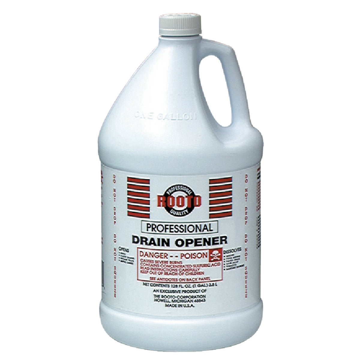 128OZ DRAIN CLEANER - 1084 by Rooto Corp