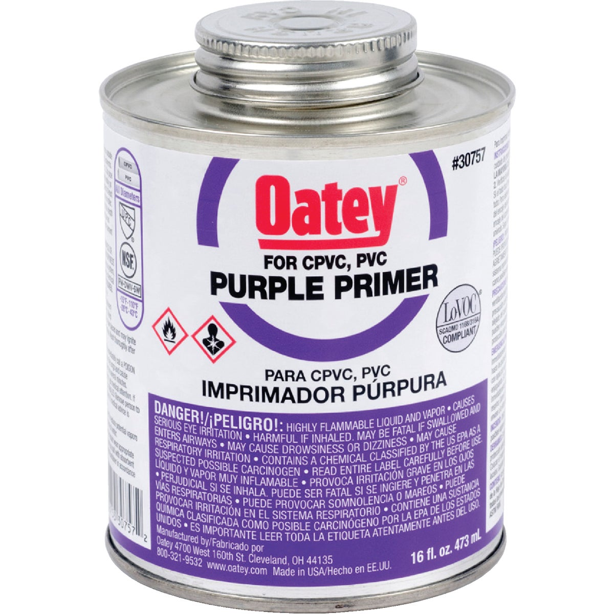 PINT PURPLE PRIMER - 30757 by Oatey Scs