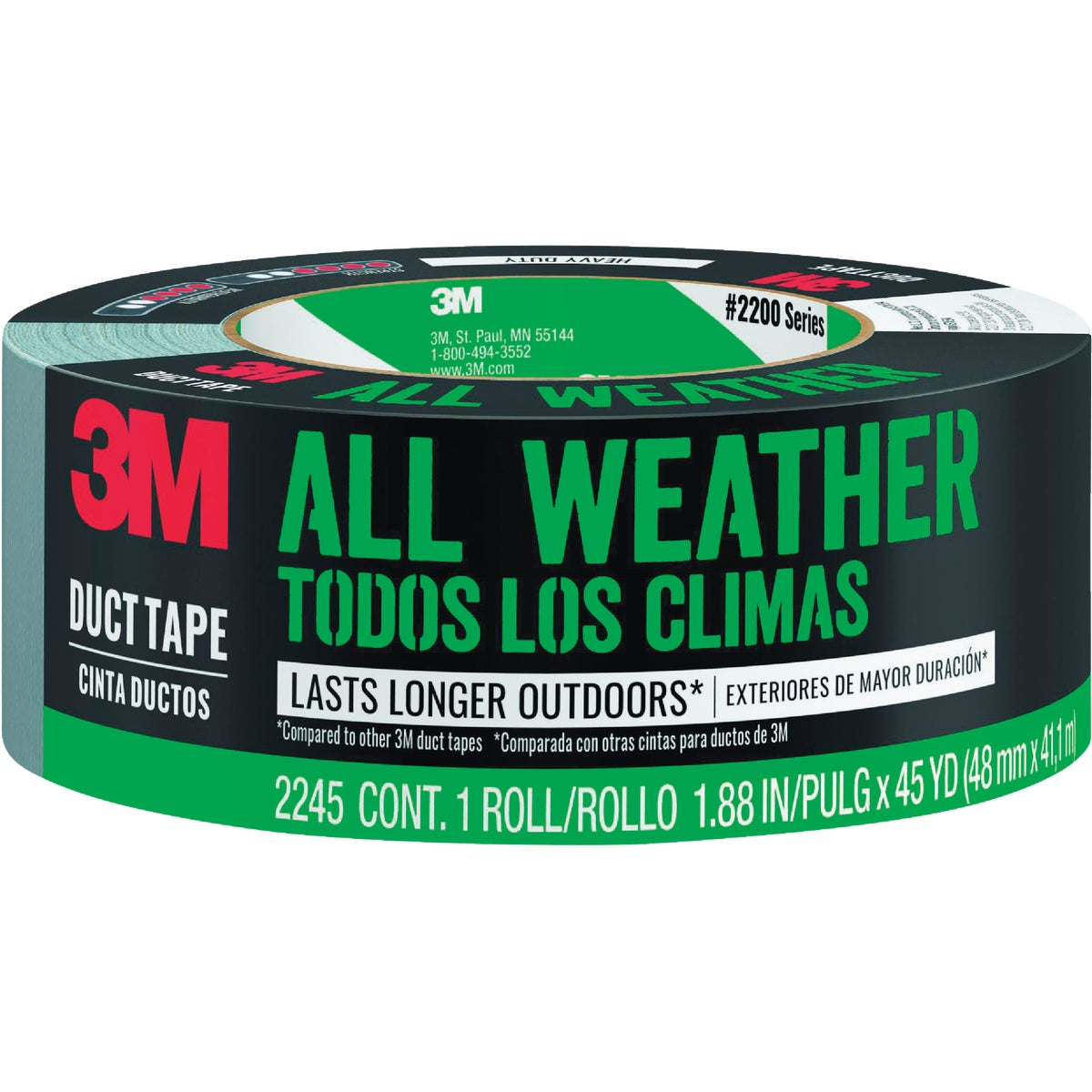 "2""X45YD H/DUTY DUCT TAPE - 2245-A by 3m Co"