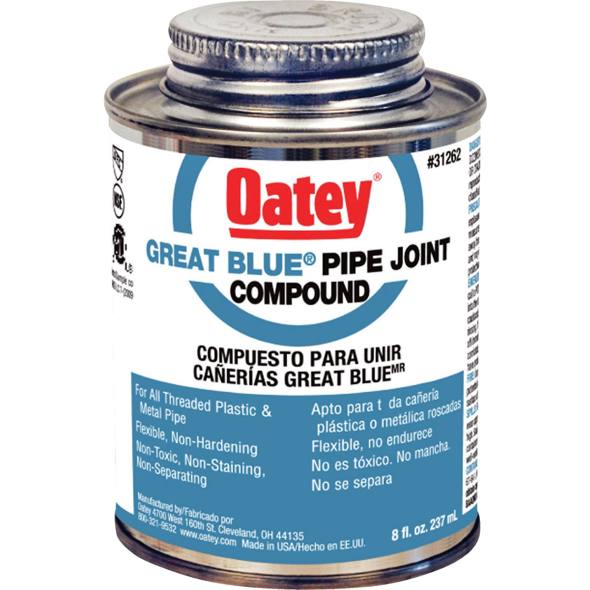 Oatey 8OZ PIPE COMPOUND 31262