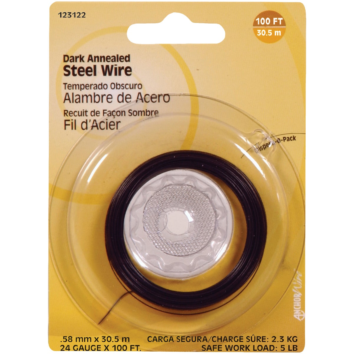 100' 24G BLACK WIRE - 123122 by Hillman Fastener