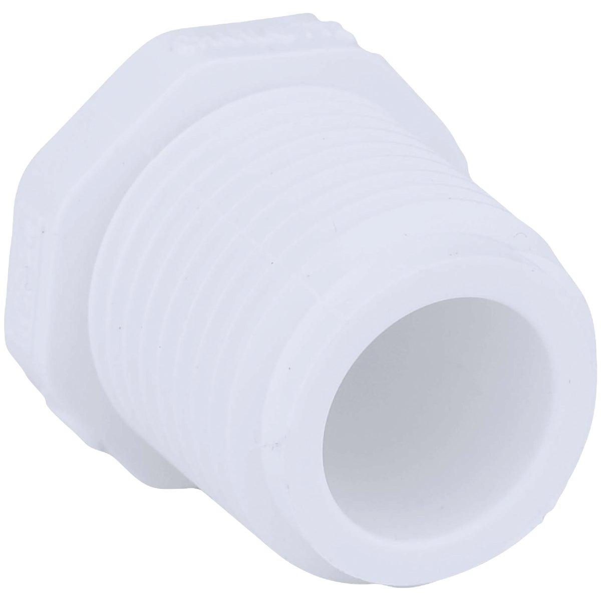 """1/2"""" PVC SCH40 MIP PLUG - 31805 by Genova Inc"""