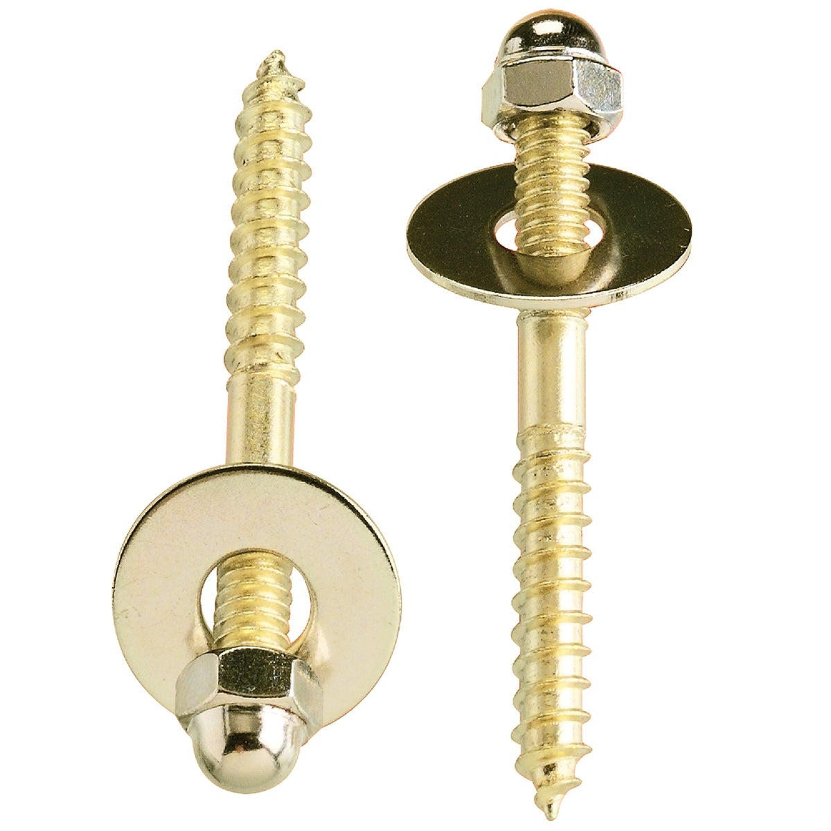2PK TOILET BOWL SCREWS - 414689 by Plumb Pak/keeney Mfg