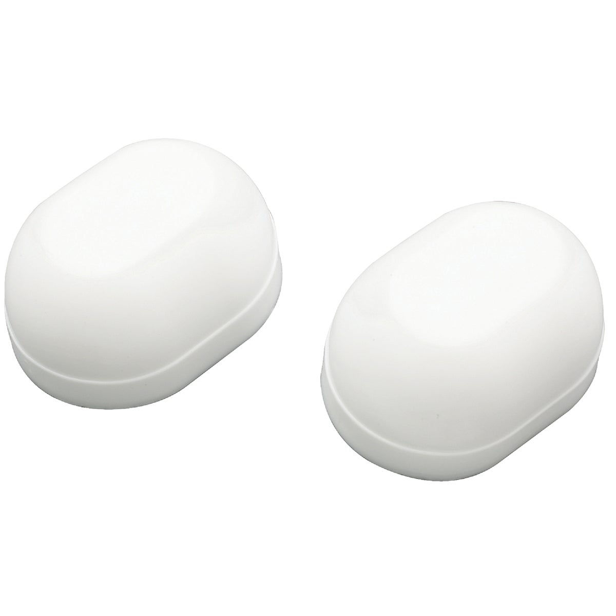 WHT OVAL TOILT BOLT CAPS