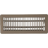 Home Impressions Steel Floor Register, 1FL0412BR-NH