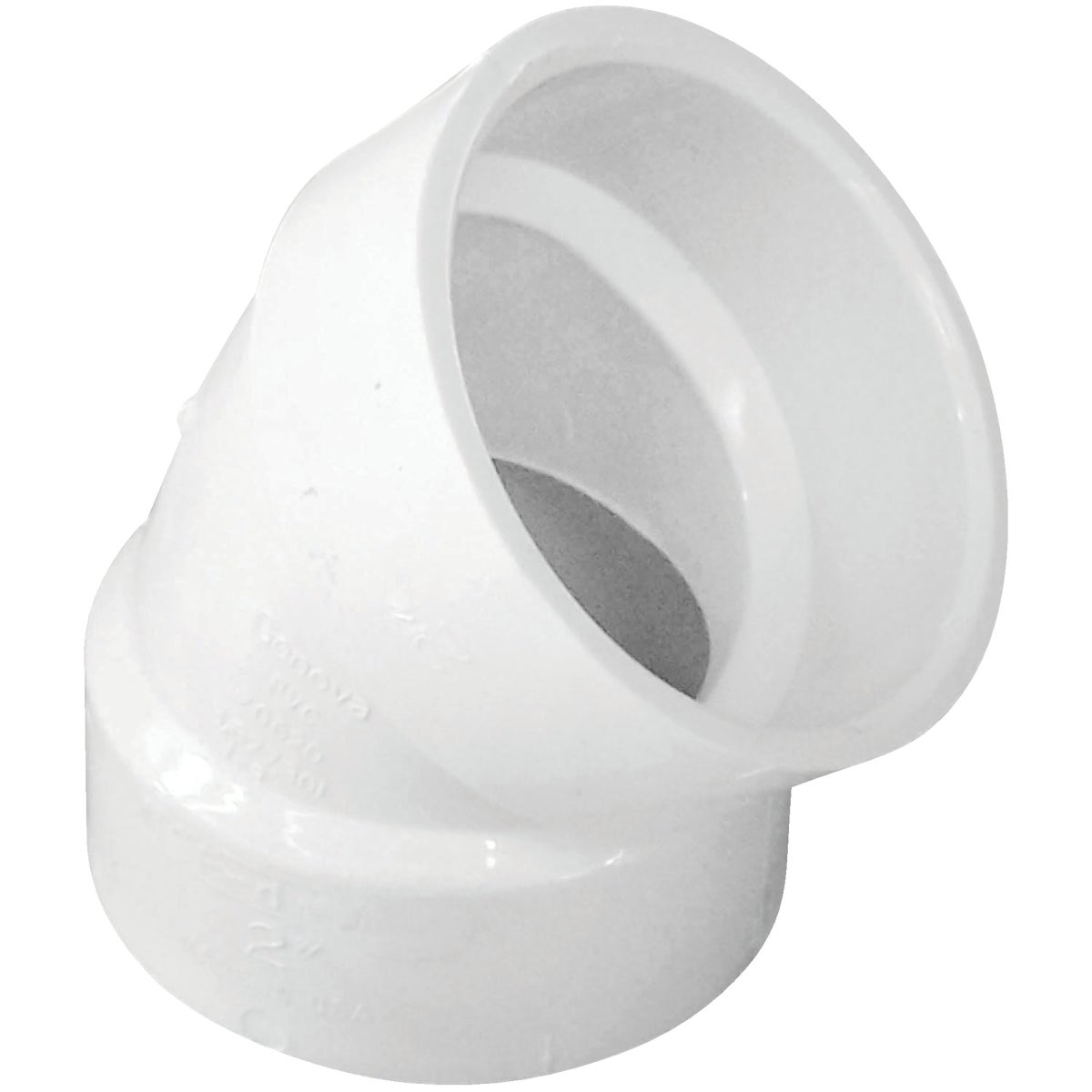 "2"" 45D PVC-DWV ELBOW - 70620 by Genova Inc  Pvc Dwv"