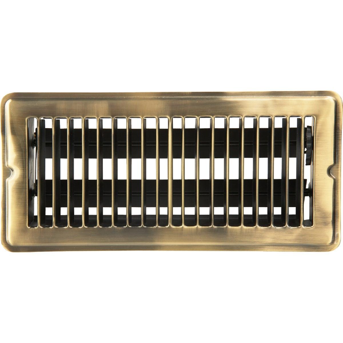 Home Impressions Stamped Brass Floor Register, 1FL0410AB-NH