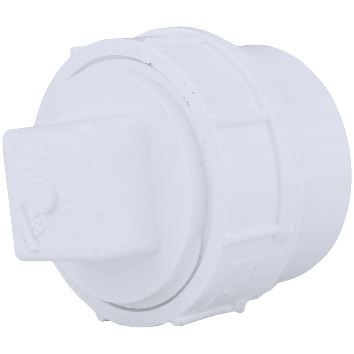 "2""PVC-DWV FITTING W/PLUG - 71620 by Genova Inc  Pvc Dwv"