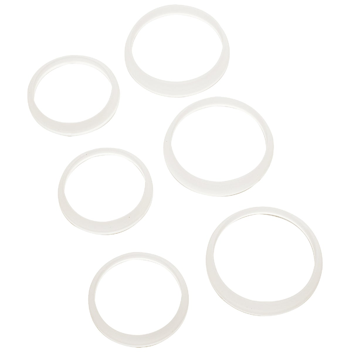 6PK POLY S/J WASHERS - 416213 by Plumb Pak/keeney Mfg