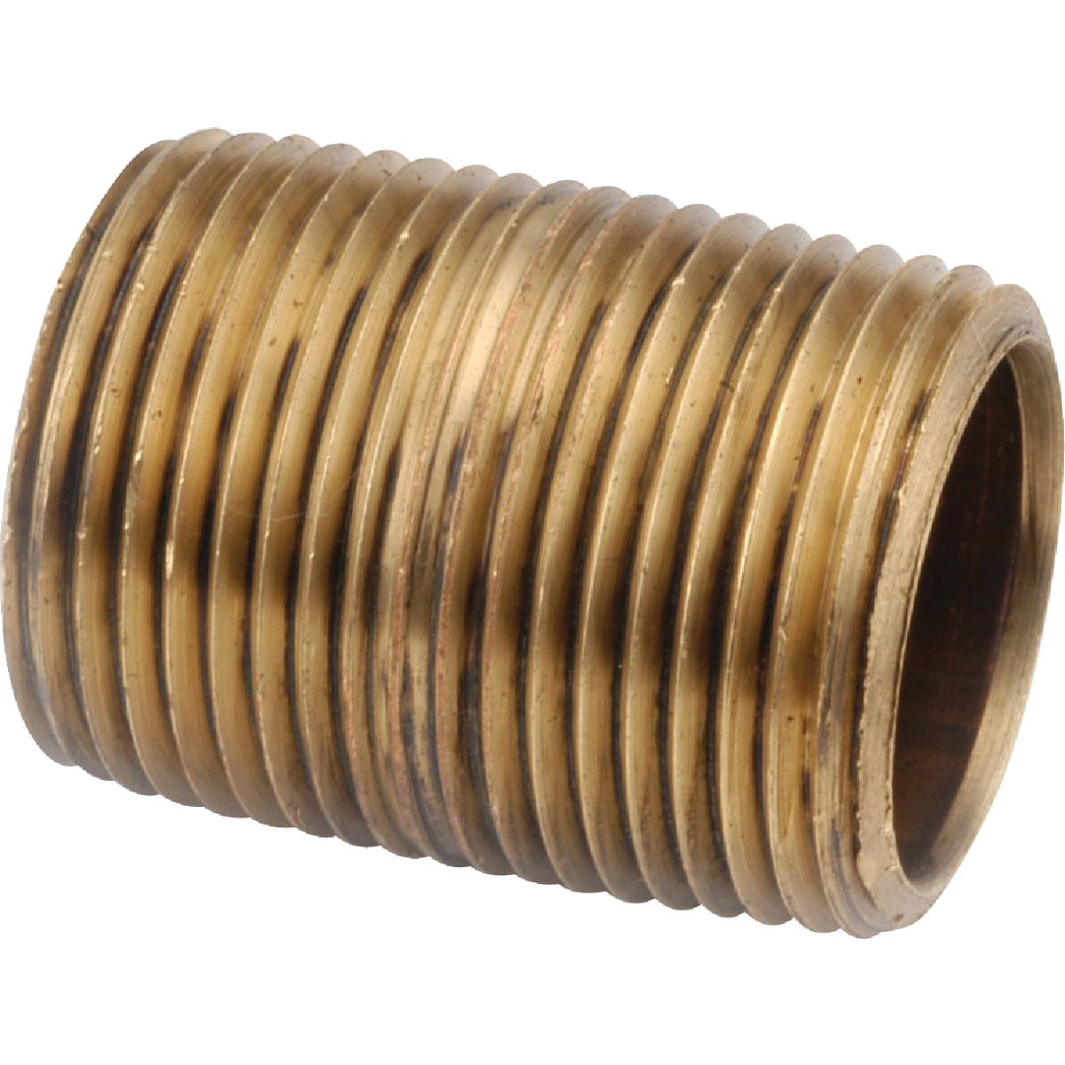 1XCLOSE RED BRASS NIPPLE - 38300-16 by Anderson Metals Corp