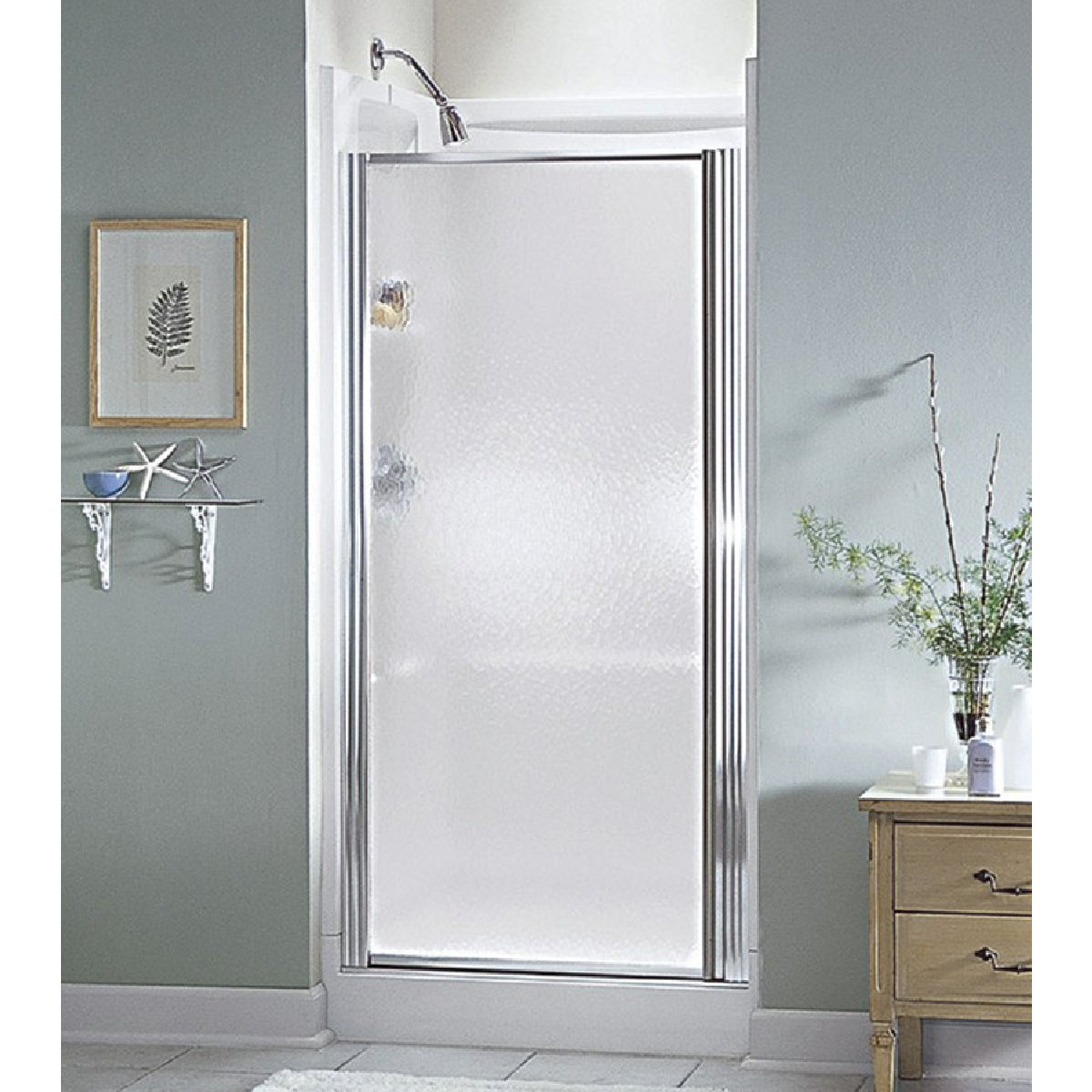 SILVER HINGED SHWR DOOR - 950C-30S by Sterling Doors